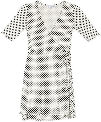 Velvet Torch Faux Wrap Midi Dress