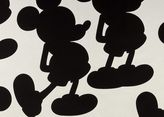Ethan Allen Mr Mouse Mickey's Ears Black Fabric Swatch