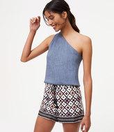 LOFT Patchwork Fluid Drawstring Shorts