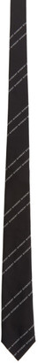 Givenchy Black and White Silk Pinstripes Tie