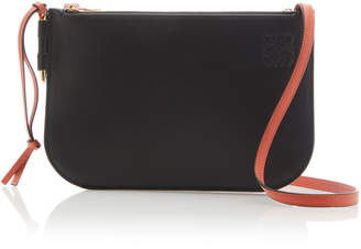 Loewe Gate Color-Blocked Double Zip Pouch