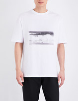 Raf Simons Wave-print cotton-jersey t-shirt