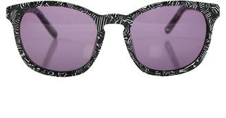 Linda Farrow X Alexander Wang Alexander Wang Zebra Print Sunglasses