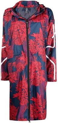 adidas by Stella McCartney Floral-Print Rain Jacket