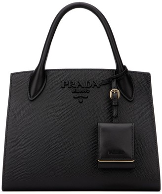 Prada Saffiano Monochrome Small Tote Bag
