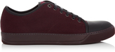 Lanvin Low-top felt and leather trainers