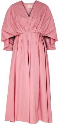 Roksanda Amina Cape-effect Cotton Midi Dress