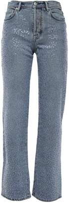 Acne Studios Sequin-embellished High-rise Straight-leg Jeans