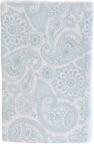 Living Textiles Paisley Cot Jersey Fitted Sheet, Blue Replica