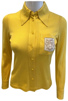Hermes Yellow Cotton Tops