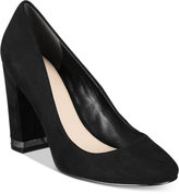 Bar III Selena Block-Heel Pumps, Only at Macy's