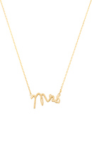 Wanderlust + Co Mrs Necklace