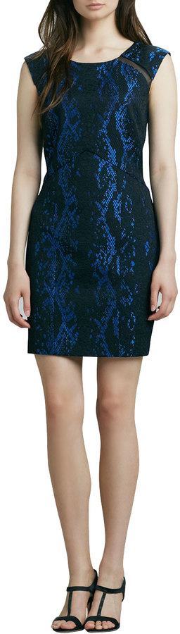 Phoebe Snake-Print Sheath Dress