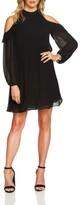 CeCe Women's Noelle Cold Shoulder Chiffon Trapeze Dress