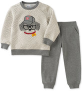 Kids Headquarters 2-Pc. Quilted Dog Sweatshirt and Pants Set, Baby Boys (0-24 months)