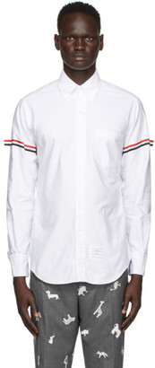 Thom Browne White Point Collar Armband Shirt