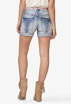 Forever 21 Destroyed Denim Shorts w/ Skinny Belt