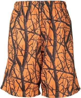 John Elliott Practice duck club print shorts