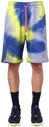 Marcelo Burlon County of Milan County 3000 Tie Dye Jersey Sweat Shorts