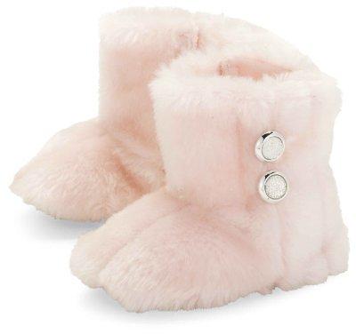 Mud Pie Baby-girls Newborn Faux Fur B...