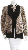 Just Cavalli Silk Leopard Print Top