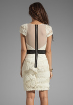 Milly Millie Feuille Couture Embroidery Cap Sleeve Dress