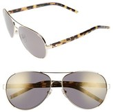 Marc Jacobs Women's 60Mm Oversize Aviator Sunglasses - Gold
