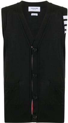 Thom Browne Merino wool sleeveless cardigan