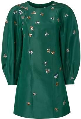 Carolina Herrera Full Sleeve Embroidered Dress