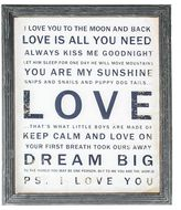 Casa Uno Affirmation 'Love' Wall Art