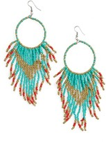 Cara Women's Beaded Circle Drop Earrings