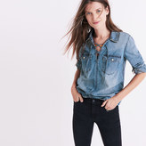 Madewell Denim Lace-Up Shirt in Chester Wash