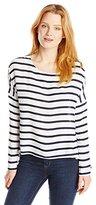 BB Dakota Women's Hannelore Classic Stripe Printed Twill Shirt
