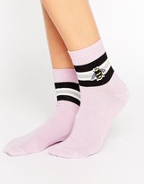 Asos Embroidered Bee Ankle Socks