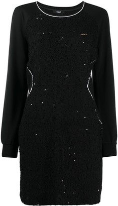 Liu Jo Sequin-Embellished Sweatshirt Dress