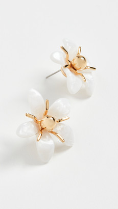 Lele Sadoughi Trumpet Lilly Button Earrings