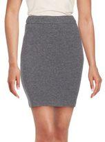 SET Zipped Wool Blend Skirt