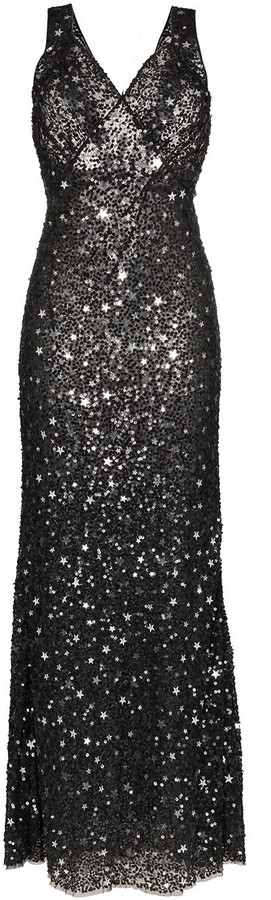 Star And Sparkle Embellished Maxi Dress