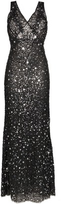 ATTICO star and sparkle embellished maxi dress