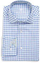 Bugatchi Men's Trim Fit Gingham Plaid Dress Shirt