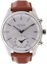 Kronaby Sekel Stainless Steel Leather Strap Smart Watch