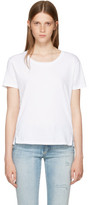 Amo White Twist Cut-out T-shirt