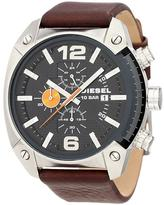 Diesel DZ4204 Men's Overflow Brown Leather Watch with Chronograph