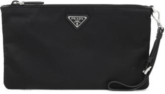 Prada Logo nylon pouch