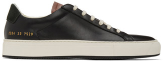Common Projects Black and Tan Special Edition Retro Low Sneakers