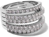 De Beers 18kt white gold Fine Line diamond ring