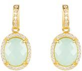 Latelita Beatrice Earrings Gold Aqua Chalcedony