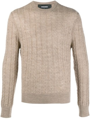 DSQUARED2 Cable-Knit Jumper