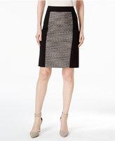Calvin Klein Metallic Tweed-Front Pencil Skirt
