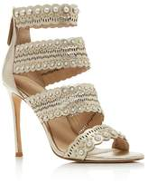 Pour La Victoire Women's Ellura Embellished Leather High Heel Sandals